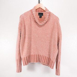 Cynthia Rowley Chenille Cowl Neck Sweater Blush